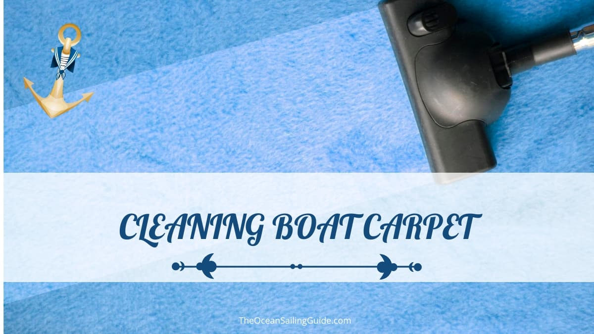 how to clean pontoon carpet
