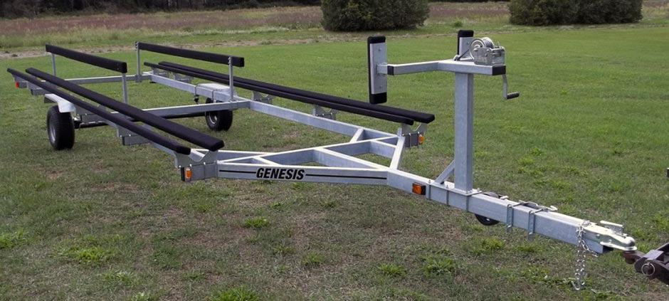 Single Axles Pontoon Trailer