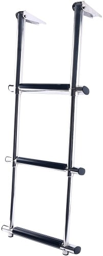 Amarine Made 3 Step Stainless Steel Telescoping Boat Ladder