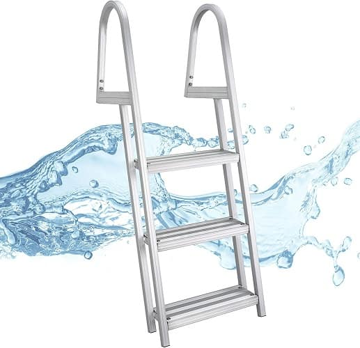 RecPro 5 Step Removable Boarding Boat Ladder